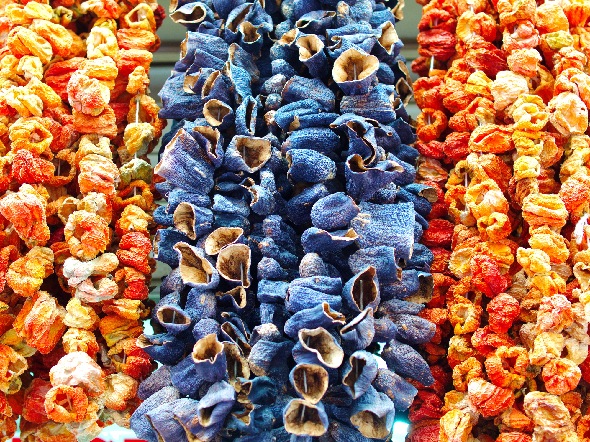 dried eggplant, pepper and bell pepper. dried to cook in winter